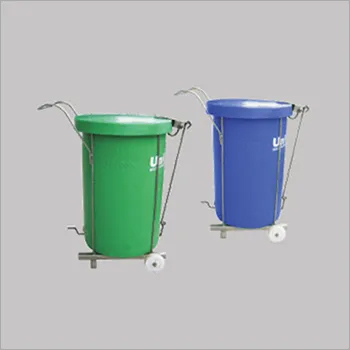 Hospital Wheel Bins With Pedal Mechanism
