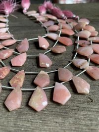 8 inch pink opal fancy cut briolettes,pink opal beads,pink opal for earrings