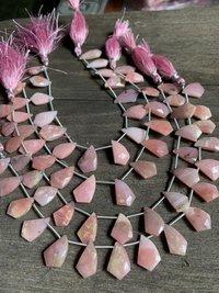 8 inch pink opal fancy cut briolettes,pink opal beads,pink opal for earrings