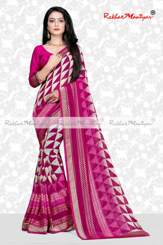Weightless Georgette Pigment printed Saree