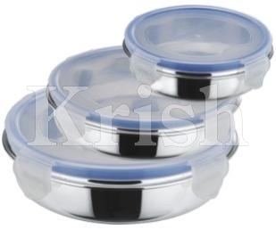 Flat Lid Bowl With Lock Cover
