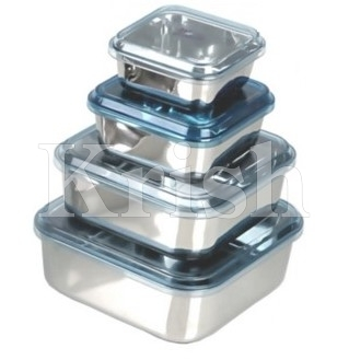 Square Storage Bowl With Acrylic See Through LId