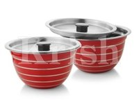 Coloured German Bowl With Air Tight Steel Lid