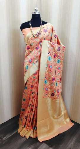 lichi cottone Banarasi silk saree