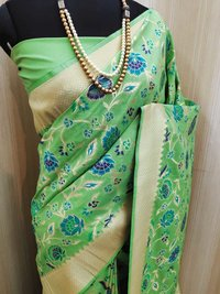 Lichi Cotton Banarasi Silk Sarees