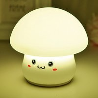 Cute LED Silicone Mushroom Night Light