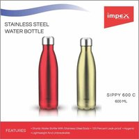 IMPEX Stainless steel water bottle (SIPPY 600C)