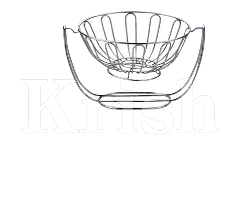 Wire Fruit Basket With Stand