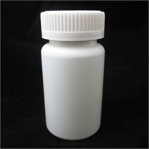White Plastic Tablet Container