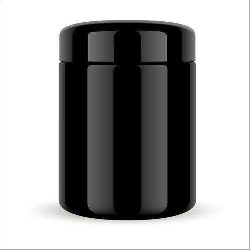 Black HDPE Cosmetic Bottle