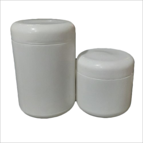 White HDPE Cosmetic Jar