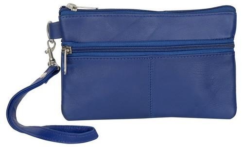 BLUE WRISTLET BAGS