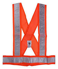 KaSaLife Orange Cross Belt Vest Safety Jackets