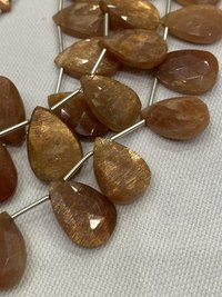 Sunstone Faceted  Beads,8 inch strand,top quality beads