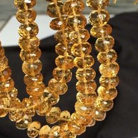 On sale natural Citrine Rondelle Faceted Beads, 8-8.5mm Approx, 8 Inch Strand