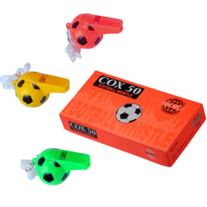 Cox 50 Football Shaped Whistle