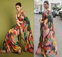 Multi Color Printed Designer Saree