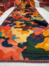 Multi Color Printed Designer Saree