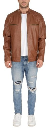 MAN PU JACKET TAN