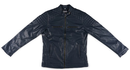PU BLUE MENS JACKET