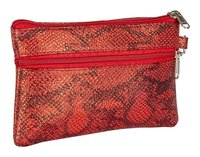 RED wristlet bag