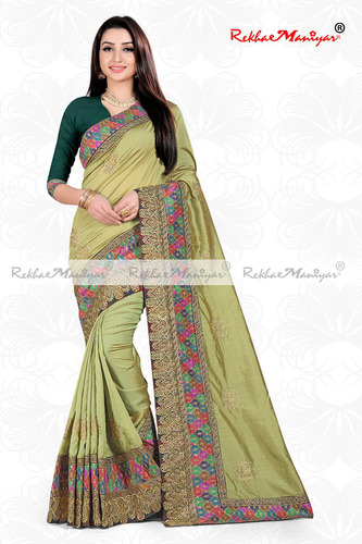 Sagun Silk Heavy Embroidery zari work Saree