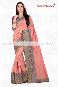 Sagun Silk Heavy Embroidery zari work Saree