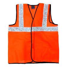 Kasa Life Reflective Safety Jacket 2 Inch Net, Orange, 60 GSM