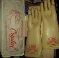Crystal Electric Hand Glove 33KVA (Cream)