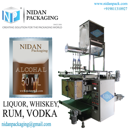 3 track Vodka/ Rum Pouch Packaging Machine
