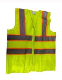 Reflective Safety Jacket 2 Inch Fabric, Green 120 GSM