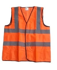 Reflective Safety Jacket 2 Inch Fabric, Orange 100 GSM
