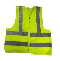 Reflective Safety Jacket 2 Inch Fabric, Green 100 GSM