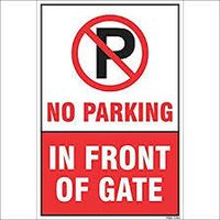 Safety Signage Non Auto Glow 12*18 Inch