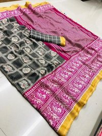 linen with Rich pallu saree