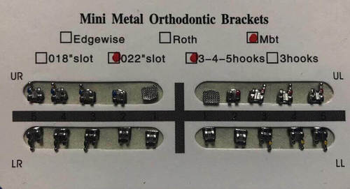 DENTMARK DENTAL METAL BRACKETS