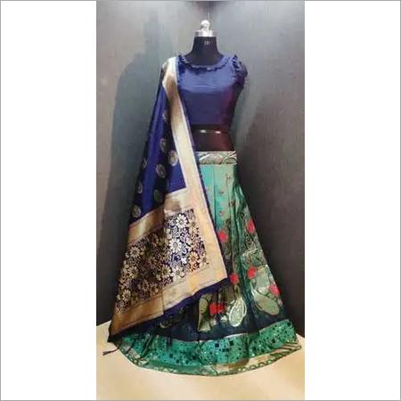 Wedding style Banarasi brocade Lehnga choli