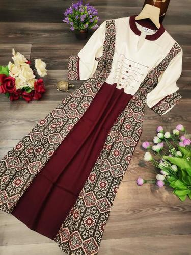FANCY HEAVY  REYON KURTI