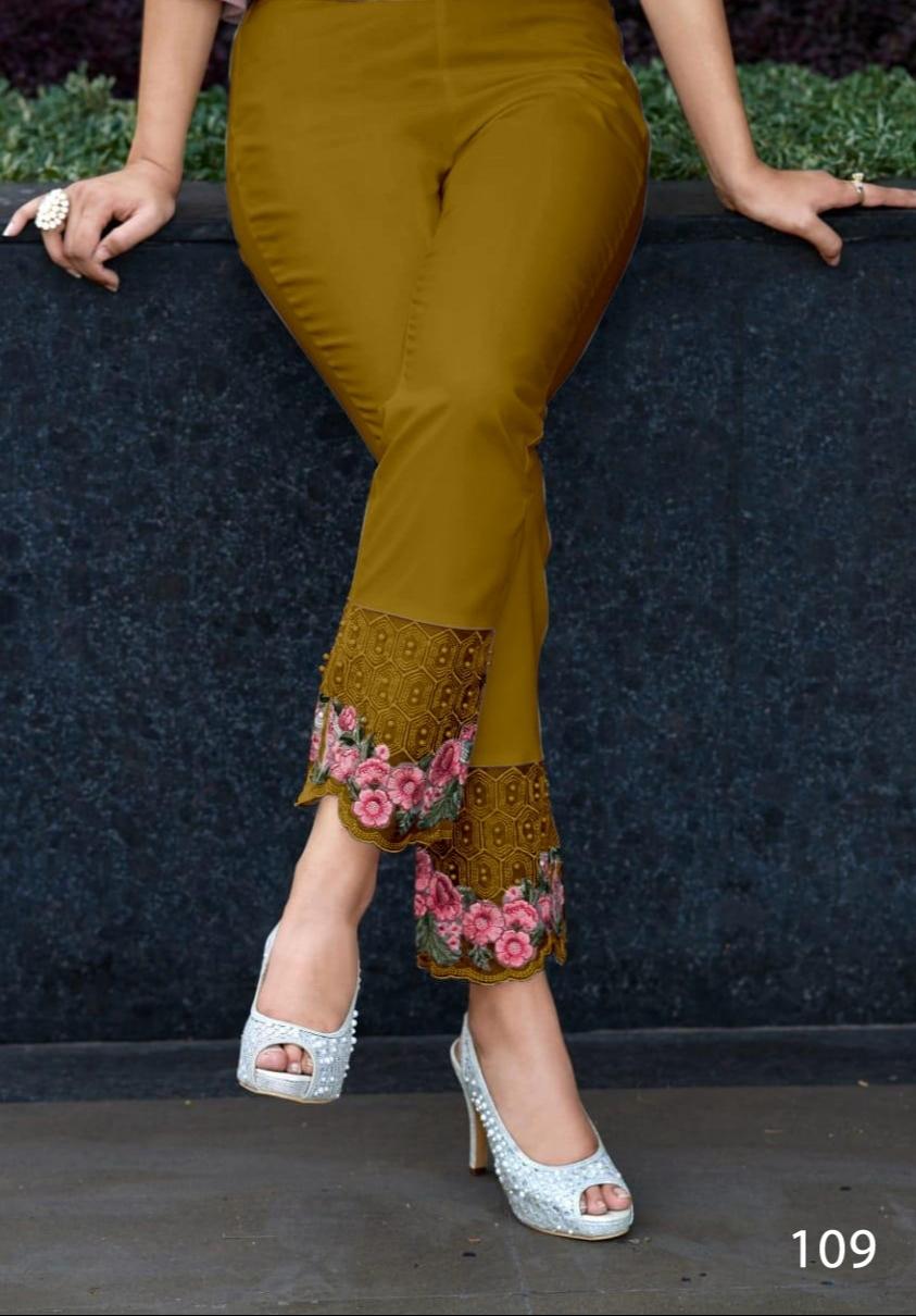 Designer cigarette pants