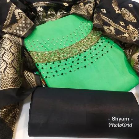 Designer handwork p.c.cotton with AARI work KHATLI