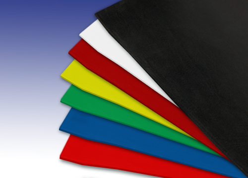 co loured silicone rubber sheets