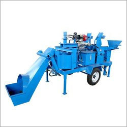Mobile Block Making Machine with Integrated Pan Mixer
