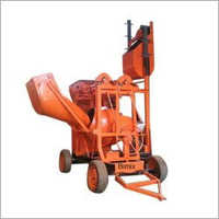 Concrete Mixer Machine With Hopper and Lift