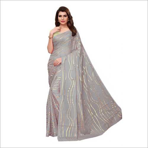 New Foil Printed Designer Saree