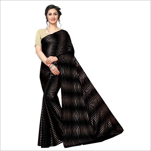 Foil Print Designer Saree