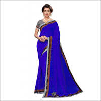 Moti Embroidery Designer Saree