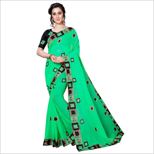 Big Lace Designer Saree