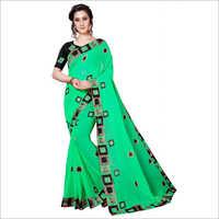 Big Lace Designer Saree