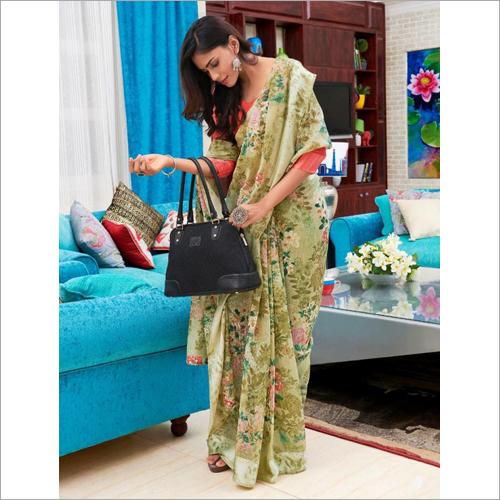 Digital Flower Printed Designer Saree