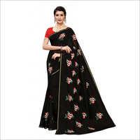 Mogra Embroidery Designer Saree